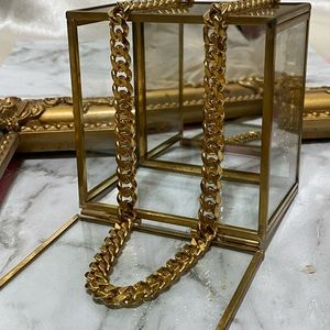 Miami Link Chain Long Gold Necklace